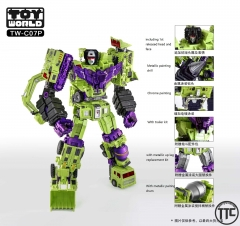 Toyworld TW TW-C07P Constructor Devastator Metallic Painting Version Full Set of 6 Figures w/ LED