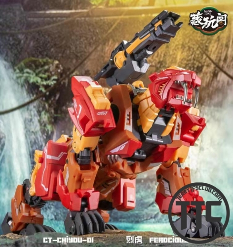 Cang-Toys Cang Toys CT CT-Chiyou-01 Ferocious Rampage Feral Rex Predaking Chiyou Combiner