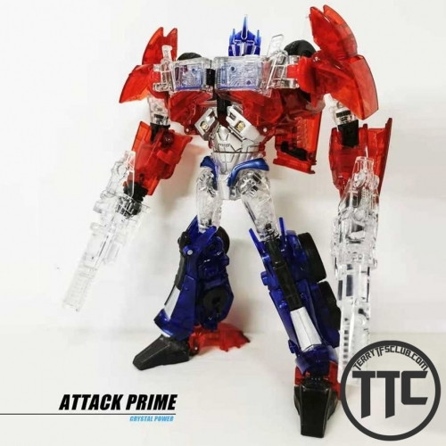 [Pre-order] APC Toys APC-001T Attack Prime TFP Optimus Prime Clear Version w/ Black Wheels