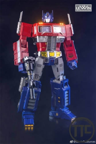 [PRE-ORDER] Lewin Resources LW-01 MP-10 Optimus Prime MATTE CHROME Oversized 71cm w/ LED
